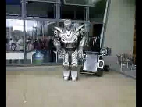 Titan the robot is set loose in basildon